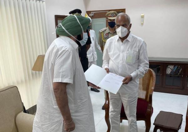 Punjab CM News:मुख्यमंत्री कैप्टन अमरिंदर सिंह ने दिया इस्तीफ़ा